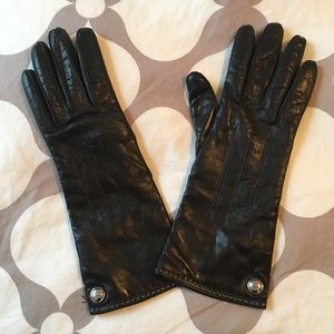 Coach leather and cashmere gloves - size 7